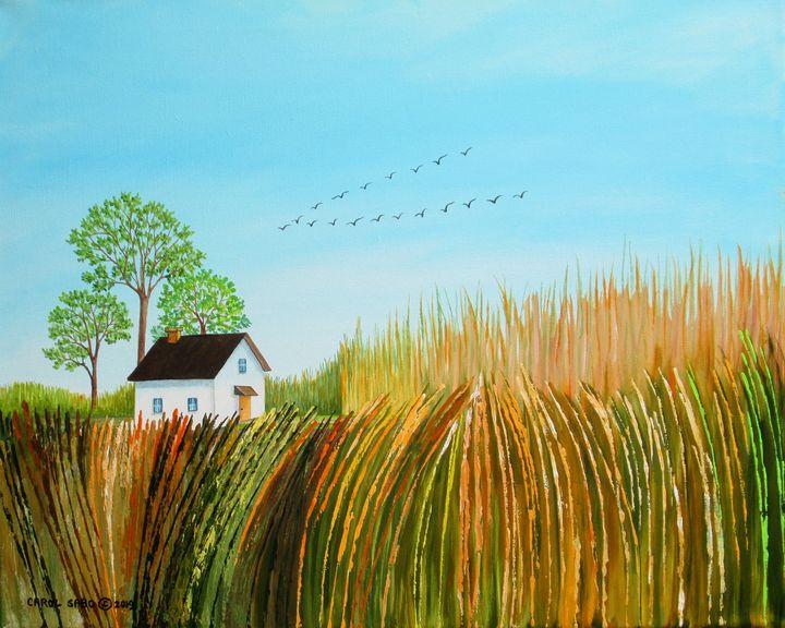 Hidden In The Wheat Fields - Southwest & Florals by Carol