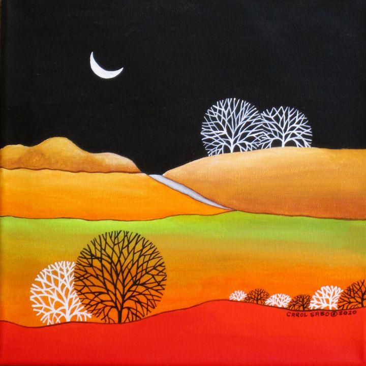 Quarter Moon - Southwest & Florals by Carol