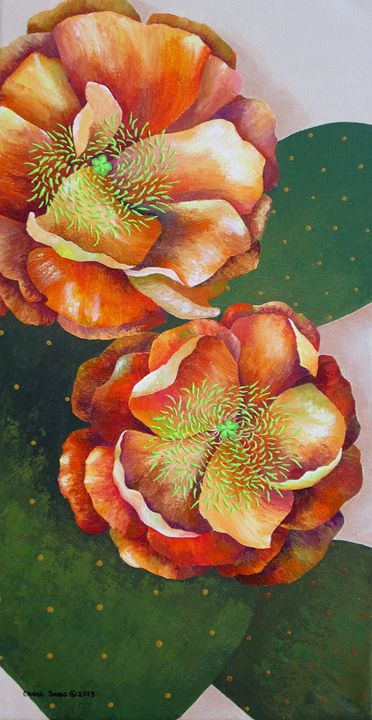 Prickly Pear Blossoms - Southwest & Florals by Carol
