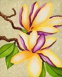 Magnolias, acrylic on Canvas