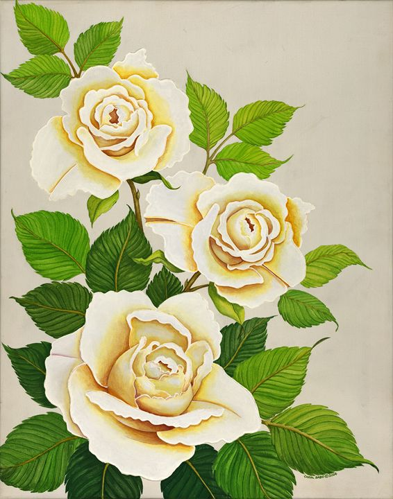 White Roses II - Southwest & Florals by Carol