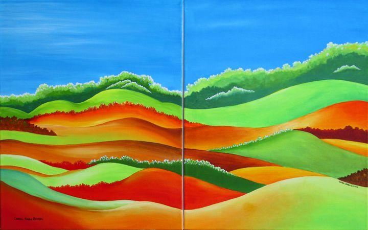 Rolling Hills - Southwest & Florals by Carol
