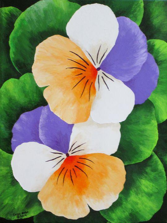 Pair Of Pansies - Southwest & Florals by Carol
