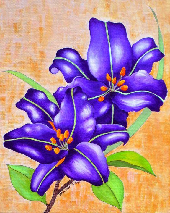 Purple Lillies - Southwest & Florals by Carol