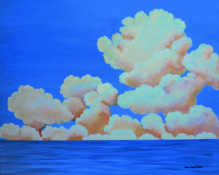 Sea and Clouds - Southwest & Florals by Carol