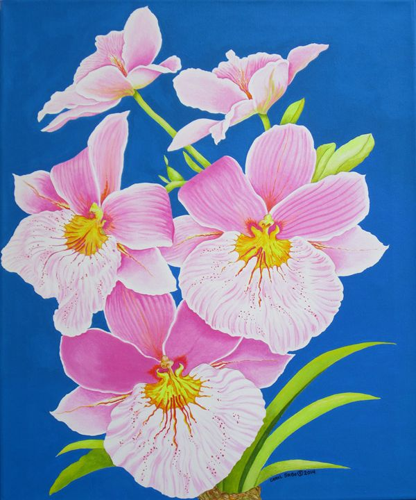Pink Orchids - Southwest & Florals by Carol