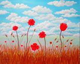 Poppy Field, original painting