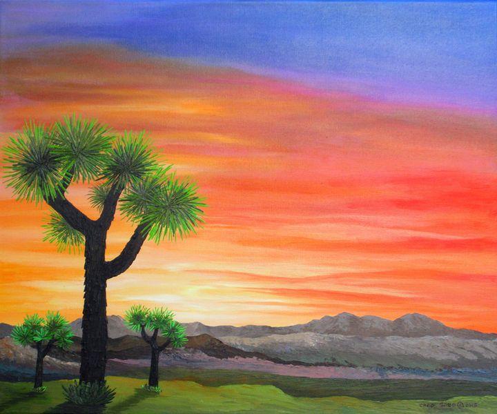 Joshua Tree Sunset - Southwest & Florals by Carol