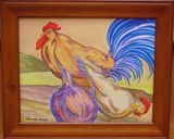 Original Painting Chickens & Rooster