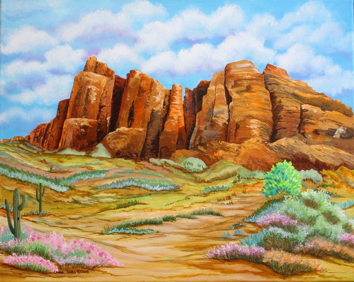 Superstition Mountains Arizona - Southwest & Florals by Carol