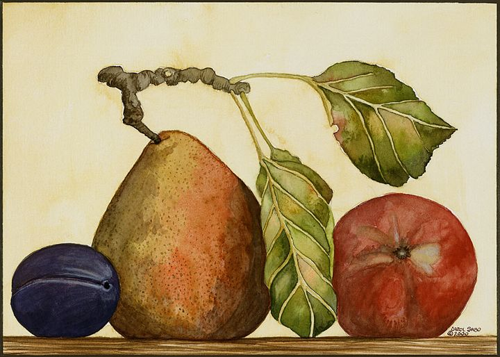 Pear, Plum, Apple - Southwest & Florals by Carol