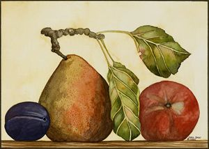 Pear, Plum, Apple