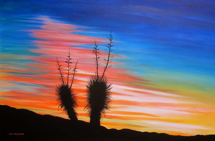 Amazing Desert Sunset - Southwest & Florals by Carol