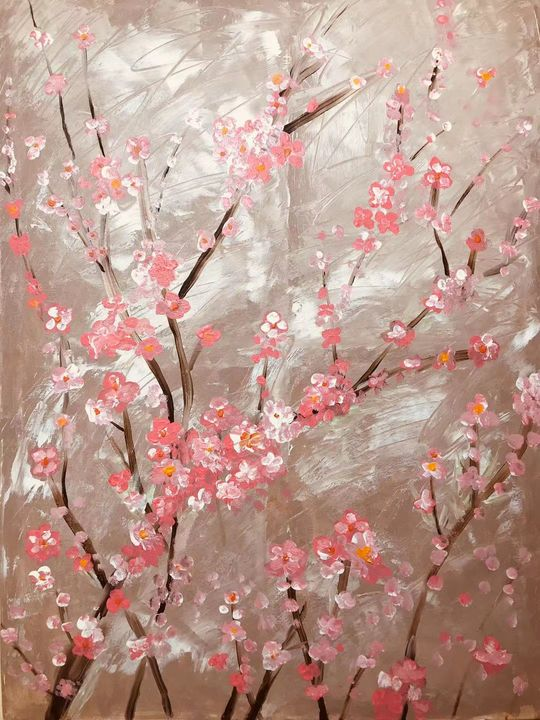 Pink Winter Plum Blossom - OOOO - Organ Donation and Orphan Adoption
