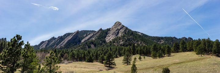 Panorama of the Flatirons - Jackson's photos