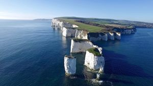 Old harry Rocks and Studland bay