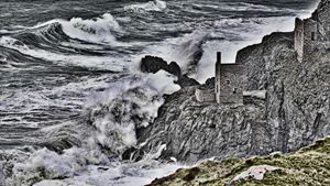 a rough day on the Cornish coast
