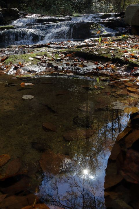 Falling Water In The Fall - Adventure Images