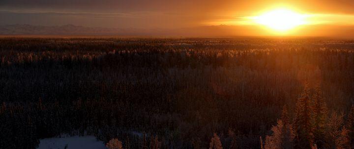Atomic Sunset Panorama - Adventure Images