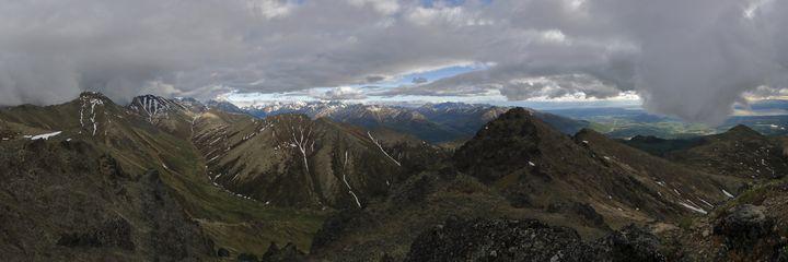 Black Tail Rocks Summit Panorama - Adventure Images