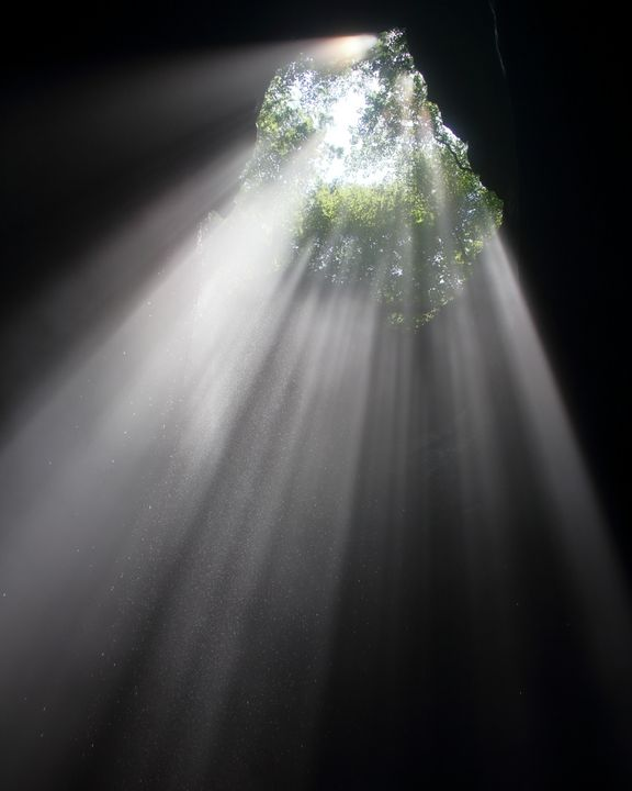 Beaming Light Above - Adventure Images