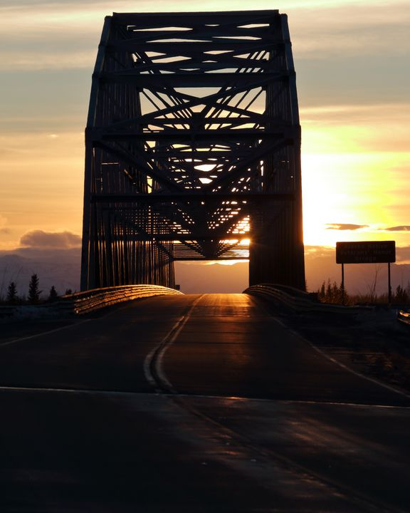 Sunset at Alaska Native Veterans Hon - Adventure Images