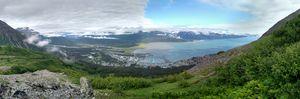 Looking down at Seward Alaska