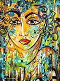 90x120 cm large acrylic painting