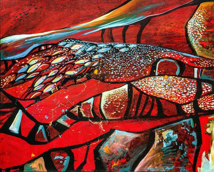 En el mar por las piedras - Galeria Felix Murillo