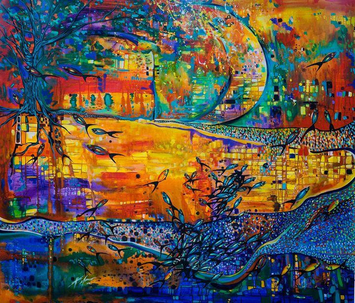 Peces de agua - Galeria Felix Murillo