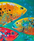 "17x13.5"" original painting fish"