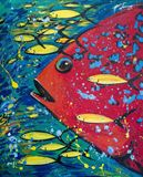 "17x13.5"" original painting fish"