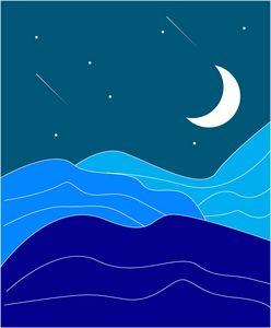 night minimalist desert art