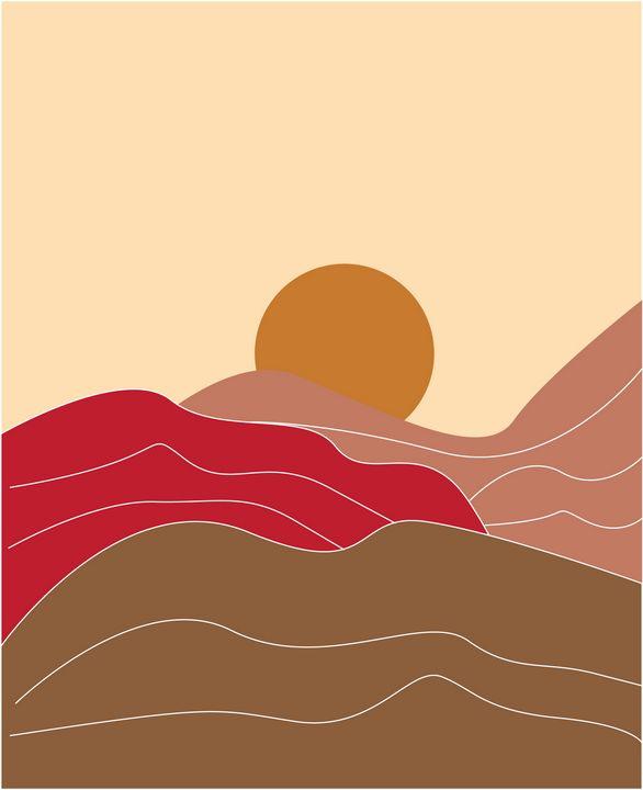 minimalist desert art print - Shreya