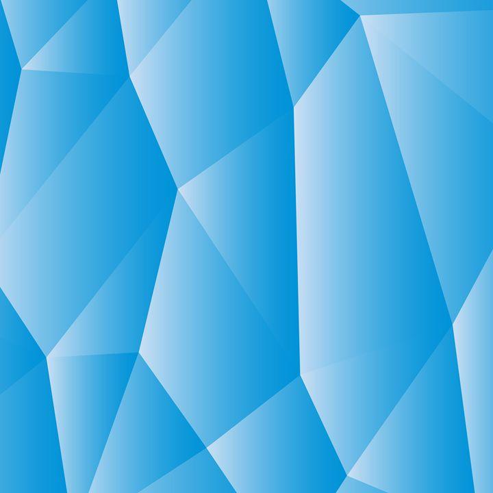 Blue white polygonal - rokkis
