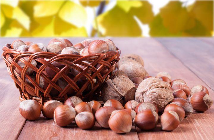 A basket of hazelnuts - rokkis