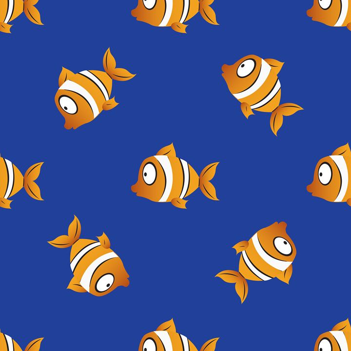 pattern with fishes - rokkis
