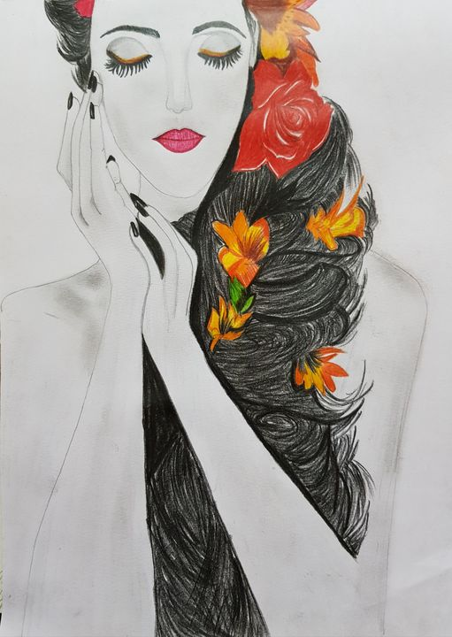 A beautiful girl - Grab ua favourite art