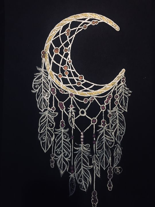 Dreamcatcher Moon - Custom Drawings Art