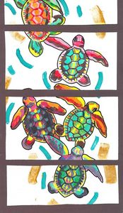 Colorful Turtle Love