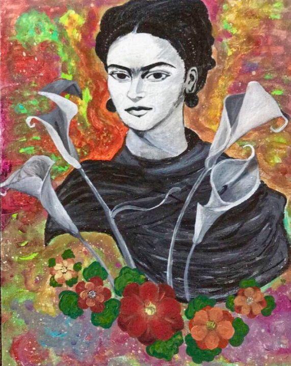 FRIDA XOXIMEH, FRIDA FLOWERS - KetzalkoatzinArt
