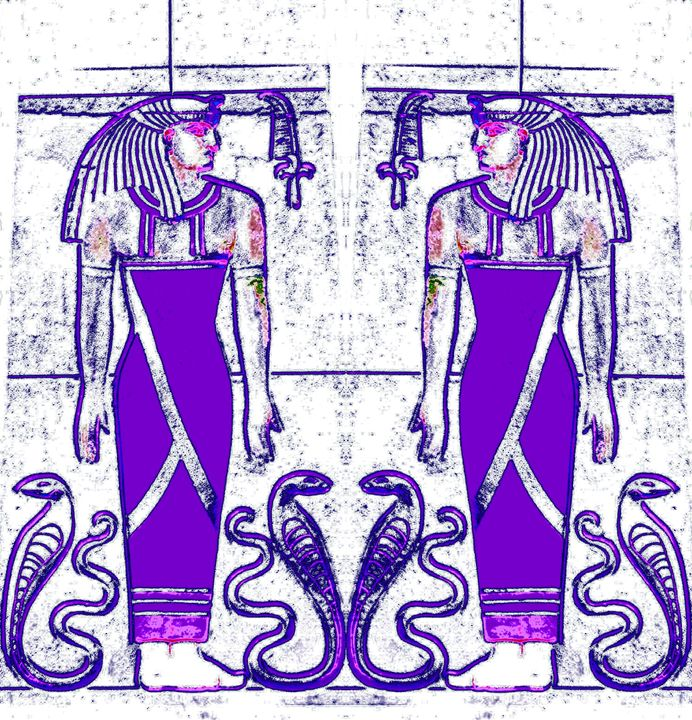 Egyptian Priests and Cobra in WP1 - Sherrie D. Larch