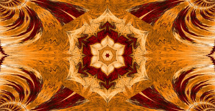 Gold Lotus In Dark Red - Sherrie D. Larch