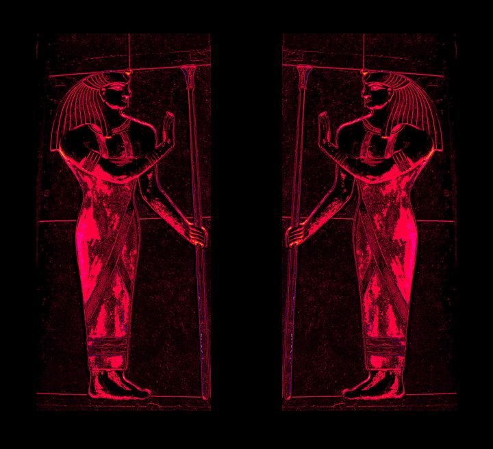 Egyptian Priests In Red I - Sherrie D. Larch
