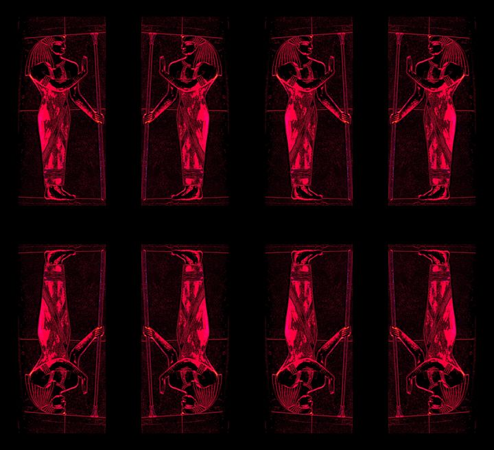Egyptian Priests In Red II - Sherrie D. Larch