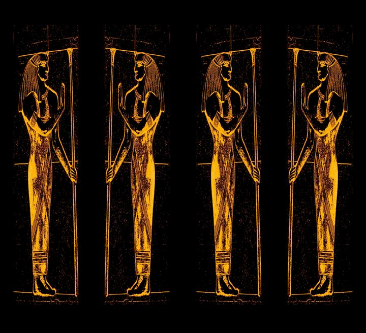 Egyptian Priests In Golden Yellow 3 - Sherrie D. Larch