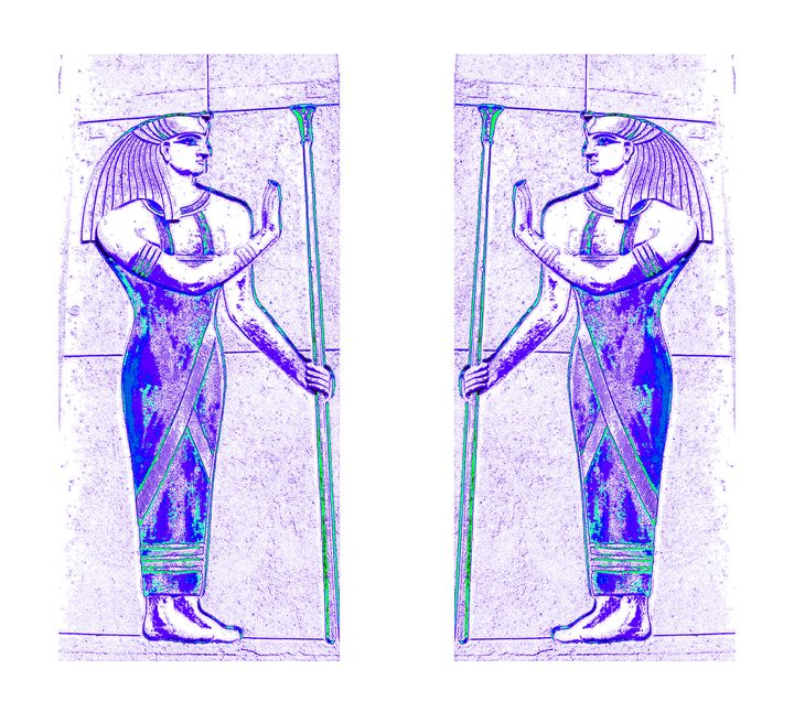 Egyptian Priests In White Purple 1 - Sherrie D. Larch