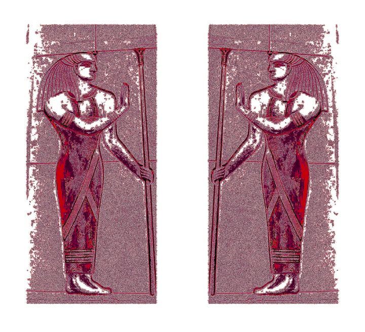 Egyptian Priests In Ruby Red I - Sherrie D. Larch