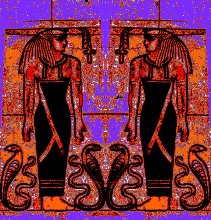 Egyptian Priests Cobras in Garden 1 - Sherrie D. Larch