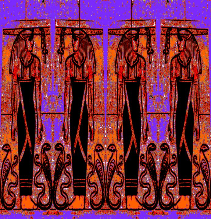 Egyptian Priests Cobras in Garden 3 - Sherrie D. Larch